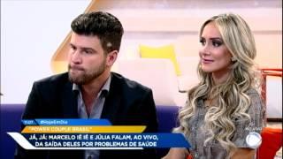 Marcelo Ié Ié e Júlia contam detalhes sobre susto no Power Couple Brasil