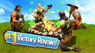 SECRET CAMPFIRE VICTORY TACTIC! (Fortnite: Battle Royale)
