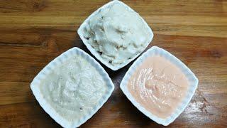Mayonnaise Recipe/তিন পদ্ধতির মেয়োনেজ রেসিপি/Home to make Mayonz Recipe/mayonz pakaane kee vidhi