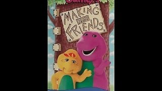Opening & Closing To Barney's Making New Friends 1995 VHS