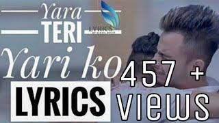 Yaara Teri Yaari Ko |  With Name | Friendship  | Millind Gaba | New 2018 Video | LekhRaj Kala |