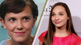 Stranger Things Star Millie Bobby Brown Talks Sleepover Spoiler with Maddie Ziegler on Ellen Show