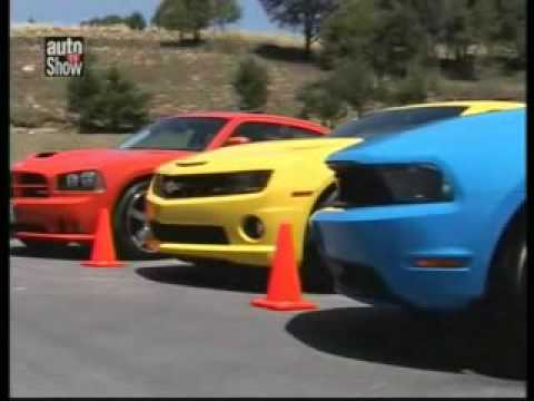 Ford Mustang Gt vs Chevrolet Camaro vs Dodge Charger