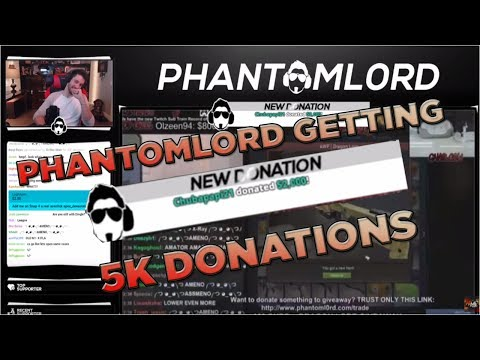 PHANTOMLORD GETTING 5K DONATION FROM ANTHONY ARCHER