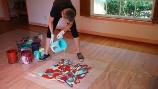 Cassandra Tondro, Abstract Painting Using Leftover House Paint, The Organic Series