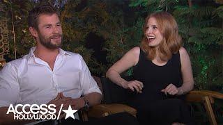 Chris Hemsworth & Jessica Chastain On Spending 8 Hours In Hot Tub For 'Huntsman's' Scene