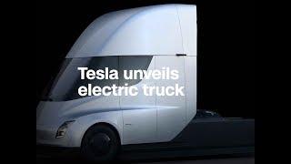 Tesla unveils a new electric semi-truck