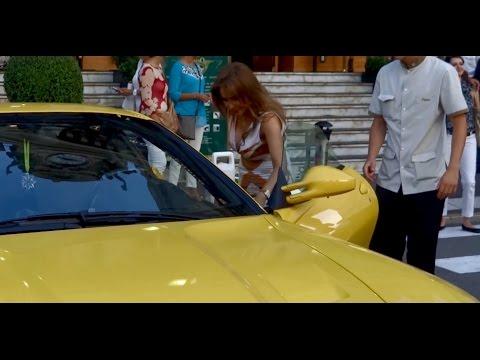 GIRL from Kuwait Driving Ferrari 599GTB REVS & ACCELERATION