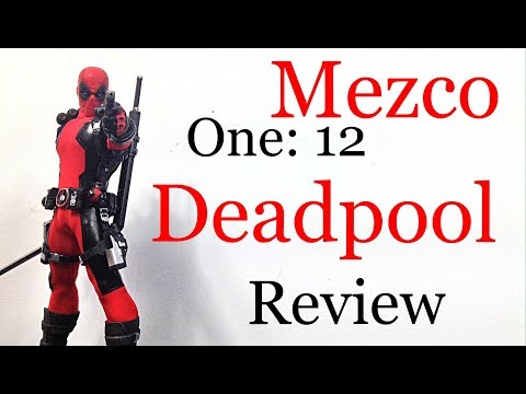 Mezco Toyz One: 12 Collective Marvel (RED SUIT) DEADPOOL Action Figure Review Toy Review