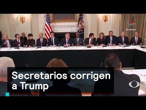 Secretarios corrigen a Trump - Trump - Denise Maerker 10 en punto