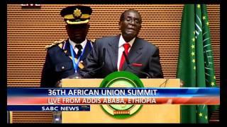 AU Chair Robert Mugabe address: 26th AU Summit