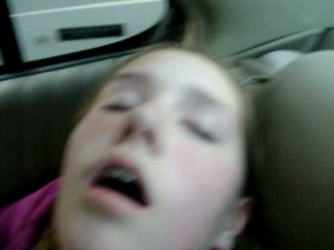 my sister sleeping!! SO FUNNY