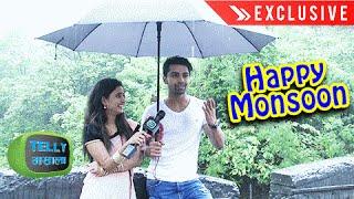 Aryan And Aradhya BOLLYWOOD STYLE RAIN ROMANCE | Krishnadasi | Exclusive Interview