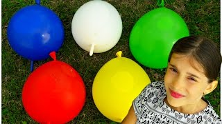 5 Mega Wet Balloons - Finger Family Song for Learning Colors - Baby Songs