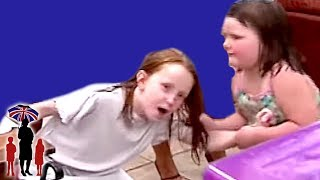 Young Girl Pulls Older Sister