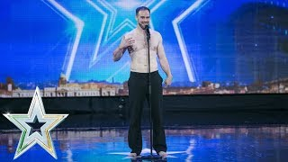 Ronan Brady delivers a fascinating performance  | Auditions Week 7 | Ireland's Got Talent 2018
