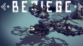 Besiege Alpha Gameplay - Best Flying Vehicles - Stealth Bomber, Avengers Heli Carrier