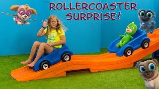 PAW PATROL Assistant Roller Coaster Surprise with Puppy Dog Pals + PJ Masks + Emoji Movie