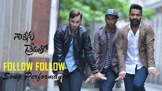 Follow Follow song performance || Nannaku Prematho Audio Launch || Jr Ntr, Rakul Preet