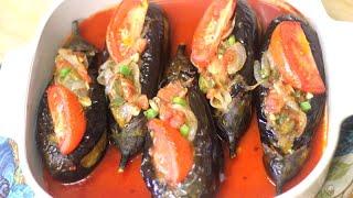 Eggplant Recipe - İmam Bayıldı وصفة باذنجان من اشهى الاطباق التركية - امام بايلدي
