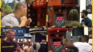 UFC fighters vs Boxing machine !
