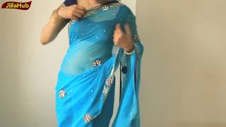 How To Tie Saree Pleats Perfectly:Super Easy Bollywood Sari Draping(Wear Sari With JiilaHub)