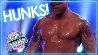 MAGIC MIKE Meets Got Talent! SEXIEST MALE Dancers Strip For The Judges | Top Talent