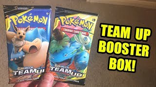 *NEW POKEMON CARDS!* Opening a English TEAM UP BOOSTER BOX with TAG TEAM GX Inside!