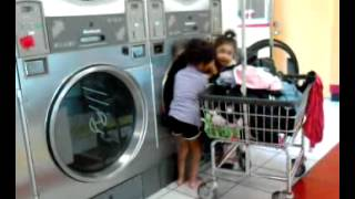 Laundry time girls