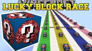 Minecraft: INSANE BRAIN LUCKY BLOCK RACE - Lucky Block Mod - Modded Mini-Game