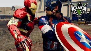 CAPTAIN AMERICA vs IRONMAN | GTA 5 Epic Battle
