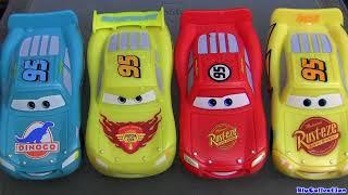 5 Color Changers Cars 2 Raoul Caroule Rusteze Mcqueen Dinoco Bob Cutlass colour water toys