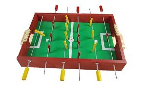 How to Make a Table Football at Home Mini Soccer Table