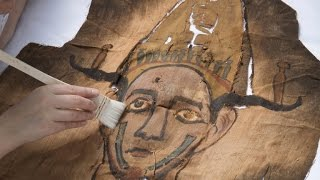 Ancient mummy shroud discovered in museum