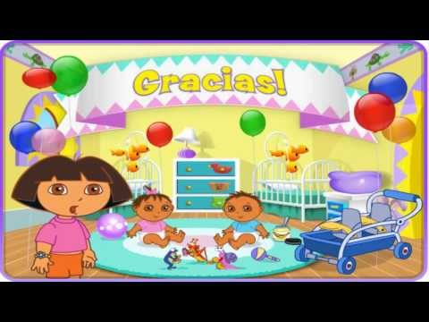 Dora the explorer Dora Playtime with the Twins Cute baby Game