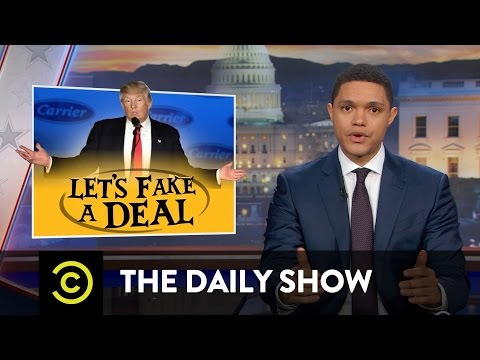 The Daily Show Trump Fakes a Deal