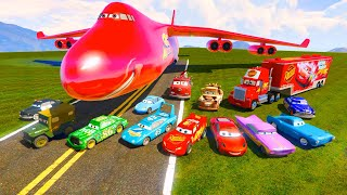McQueen Сargo Plane and Friends The King Chick Hicks Mack Tow Mater McMissile Hudson Ramone & Songs