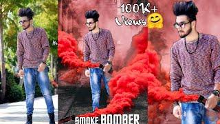 PicsArt Smoke Bomber Effect Editing,Picsart Movie Poster Manipulation Editing