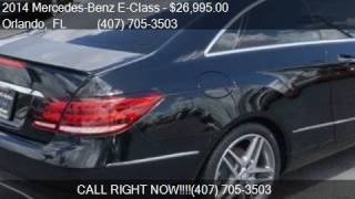 2014 Mercedes-Benz E-Class E 350 2dr Coupe for sale in Orlan