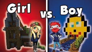 Girl vs. Boy Build Battle