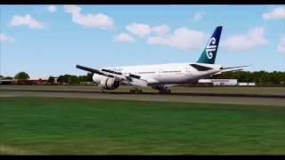 Air New Zealand Boeing 777-300 Arrives at London Heathrow