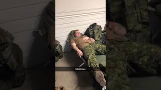 Don't fall asleep in the army....