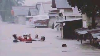 BANGKA TENGGELAM! #PrayForBangka: Banjir di Pangkal Pinang - Bangka Belitung Setinggi Atap Rumah