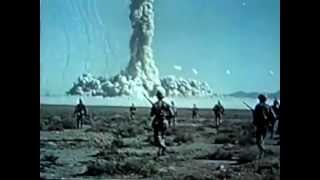 Early American nuclear bomb testing video from the 1950's
