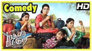 Magalir Mattum Comedy Scenes   Jyothika   Urvashi   Saranya   Bhanupriya   Lates Tamil Movie 2017