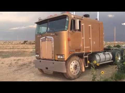 Driving and shifting a 1987 Kenworth K100 cab over 3406 Catapillar 13 Speed