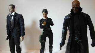Custom Hottoys Nick Fury Phil Coulson and Maria Hill