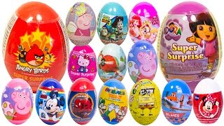 Surprise Eggs Dora The Explorer Angry Birds Peppa Pig Mickey Mouse Masha and the Bear Play Doh Eggs