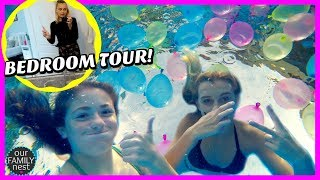 WATER BALLOONS IN OUR SWIMMING POOL!!  KARLI'S NEW BEDROOM TOUR!