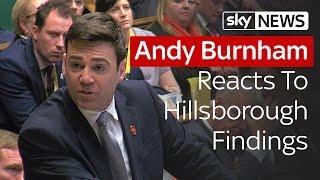 Andy Burnham Responds To Hillsborough Findings